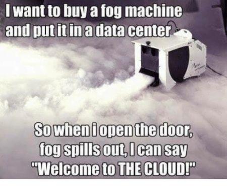 Funny cloud computing meme.